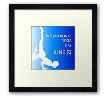 International yoga day june 21  Framed Print