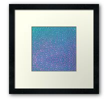 BLUE GLITTER Framed Print