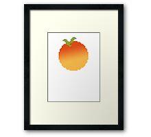 Pixel Peach Framed Print