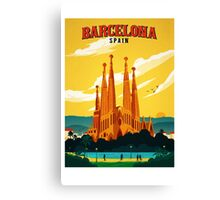 Travel Barcelona Canvas Print