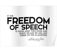 freedom of speech - george washington Poster