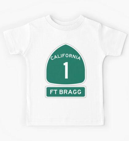 PCH - CA Highway 1 - Ft Bragg  Kids Tee