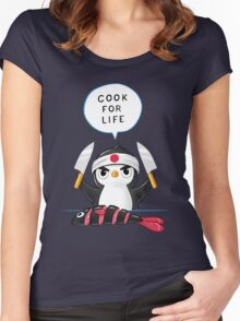Penguin Chef Women's Fitted Scoop T-Shirt