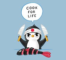 Penguin Chef Womens Fitted T-Shirt