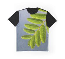 Green Leaf, Grey Sky Graphic T-Shirt