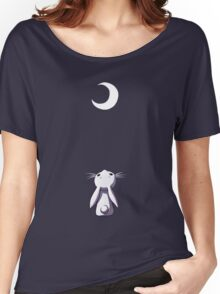 Moon Bunny Women's Relaxed Fit T-Shirt