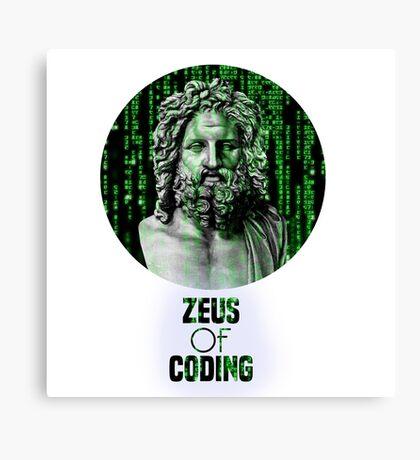 ZEUS OF CODING Canvas Print