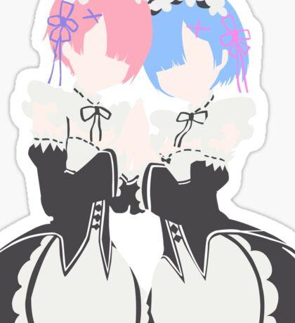 Rem & Ram Sticker