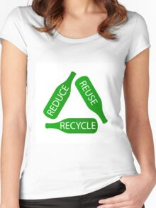 Reduce Reuse Recyele Women's Fitted Scoop T-Shirt