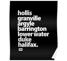 Halifax Nova Scotia - Downtown Poster