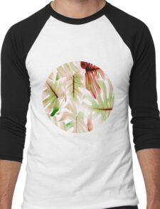 Monstera pastel Men's Baseball ¾ T-Shirt