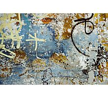 Beautiful weathered eroded graffiti photo Photographic Print