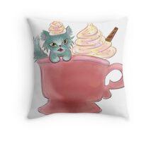 Vanilla Sprinkles Kitten  Throw Pillow
