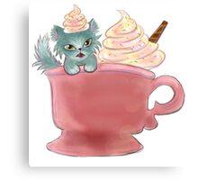Vanilla Sprinkles Kitten  Canvas Print