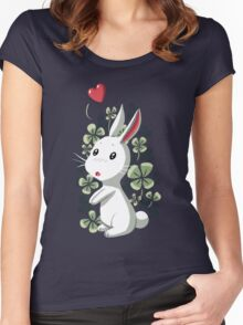 Clover Bunny Women's Fitted Scoop T-Shirt