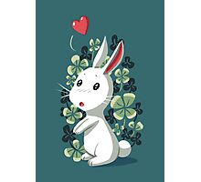 Clover Bunny Photographic Print