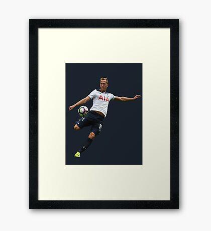 Harry Kane 2017 Tottenham Hotspur (Phone Case & More) Framed Print