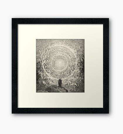Dante, Heaven, Heavenly, The Divine Comedy, Gustave Doré, Highest, Heaven Framed Print