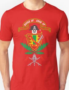 """""""Old School Family Crest (Red)"""" Unisex T-Shirt"""