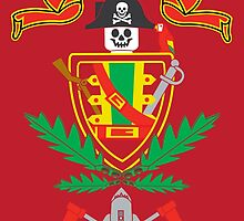 """Old School Family Crest (Red)"" by Evan Ayres"
