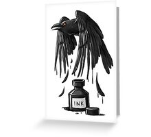 Ink Raven Greeting Card