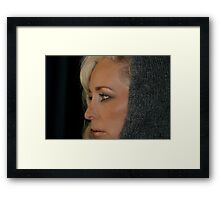 Blond Woman Framed Print