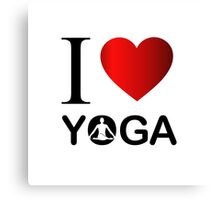 I love yoga  Canvas Print