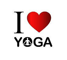 I love yoga  Photographic Print