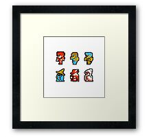 Final Fantasy: Team up (Redux) Framed Print