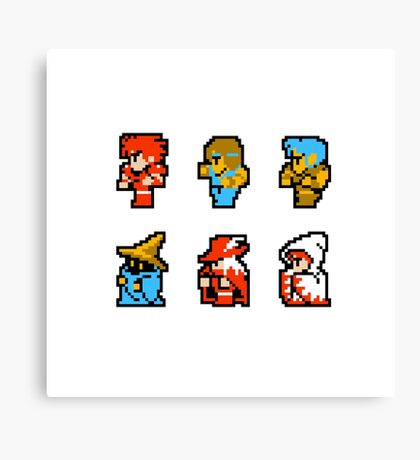 Final Fantasy: Team up (Redux) Canvas Print