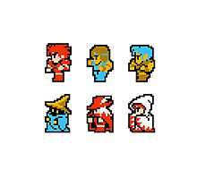 Final Fantasy: Team up (Redux) Photographic Print