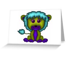 Baby Lion Colorful Greeting Card