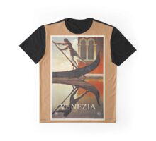 Vintage Venice Italy travel advert, gondola Graphic T-Shirt