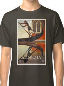 Vintage Venice Italy travel advert, gondola Classic T-Shirt
