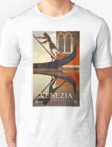 Vintage Venice Italy travel advert, gondola Unisex T-Shirt