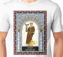ST NICHOLAS OF TORENTINO under STAINED GLASS Unisex T-Shirt