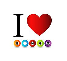 I love bingo Photographic Print