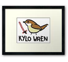 Kylo Wren - star wars visual pun design Framed Print