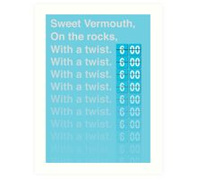 Sweet Vermouth Art Print