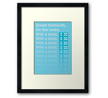 Sweet Vermouth Framed Print