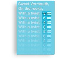 Sweet Vermouth Canvas Print