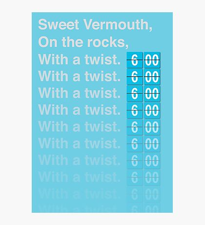 Sweet Vermouth Photographic Print