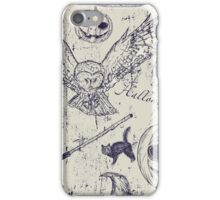 Halloween Woodcuts iPhone Case/Skin