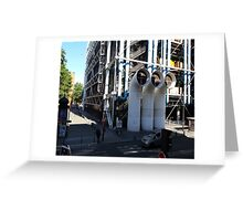 Centre Pompidou in Paris France, from a window opposite. Greeting Card