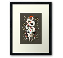Long Tail Fox Framed Print