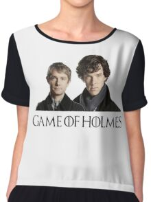 Game of Holmes Chiffon Top