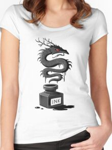 Ink Dragon Women's Fitted Scoop T-Shirt
