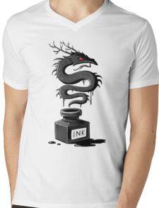 Ink Dragon Mens V-Neck T-Shirt