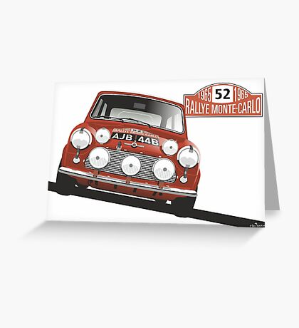 1965 Rallye Monte Carlo winner Greeting Card
