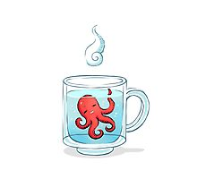 Octopus Tea Photographic Print